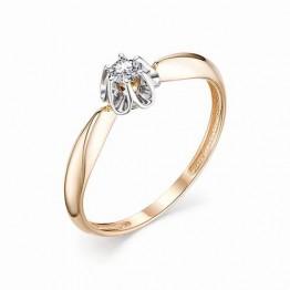 Кольцо бриллиант в цветке
