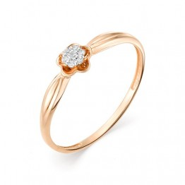 Кольцо бриллиантовый цветок