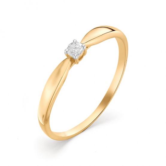 """Кольцо из золота """"Для неё"""" бриллиант"""
