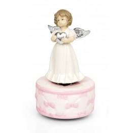 Музыкальная статуэтка Ангелочек с сердцем