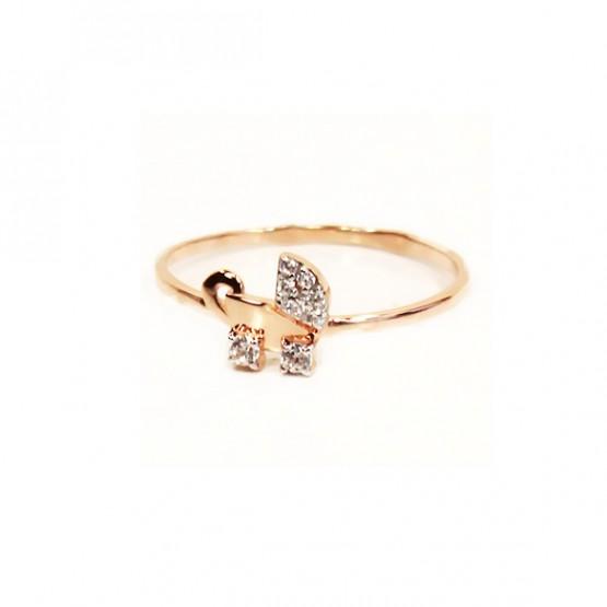 Золотое кольцо с колясочкой