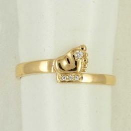 """Золотое кольцо """"Детская ножка"""""""