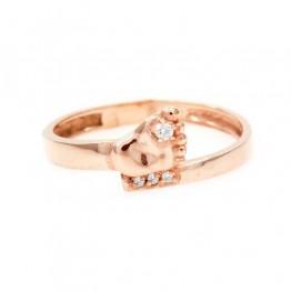 Серебряное кольцо с пяточкой в позолоте