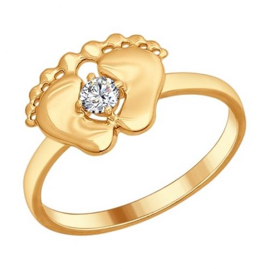 Серебряное кольцо пяточки