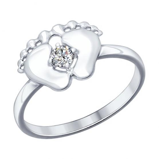 Серебряное кольцо с пяточками