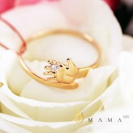 "Золотое кольцо ""Ручка младенца"" бриллиант"
