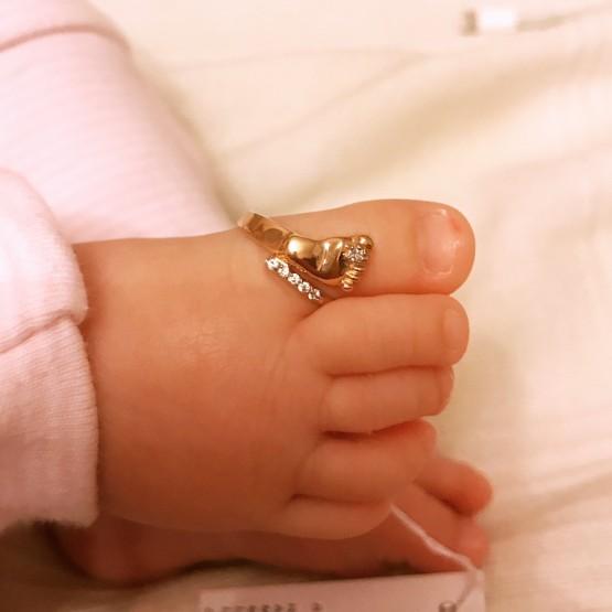 """Золотое кольцо """"Детская пяточка"""""""