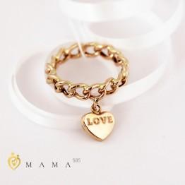 "Кольцо золотое ""LOVE"""