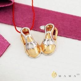 Золотой кулон Пинетки из золота с бриллиантом
