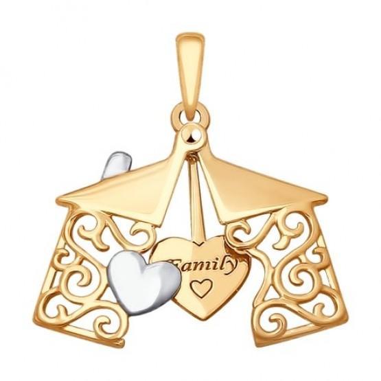 Золотая подвеска Семья арт 035287
