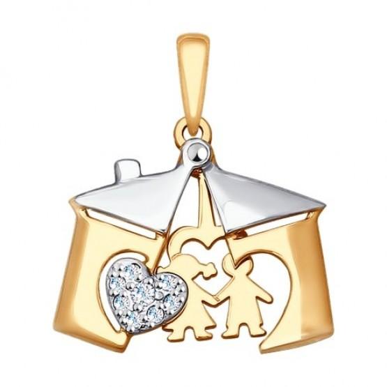Золотая подвеска Детки арт 035288
