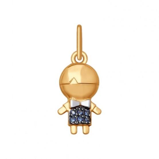 Золотая подвеска Мальчик 035420