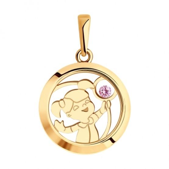 0 Золотой кулон с девочкой малышкой 035823