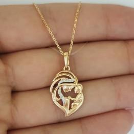 Кулон Мать и дитя из золота с бриллиантами 1030510