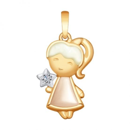 Золотой кулон Мамина Звездочка 1030701