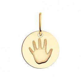 Золотая подвеска Мама талисман чуда - ладошка